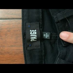 PAIGE Jeans - High Waisted Destroyed Black Jeans